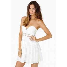 Talia Belted Plunge Neck Skater Dress