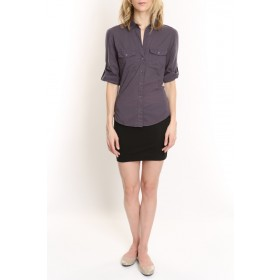 Charcoal Sheri Collar Shirt